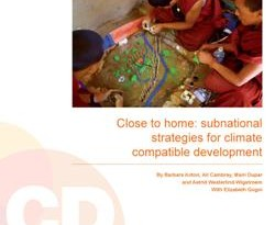 Close to home: Subnational strategies for climate compatible development
