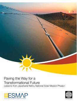 Paving the way for a transformational future: Lessons from Jawaharlal Nehru National Solar Mission Phase I