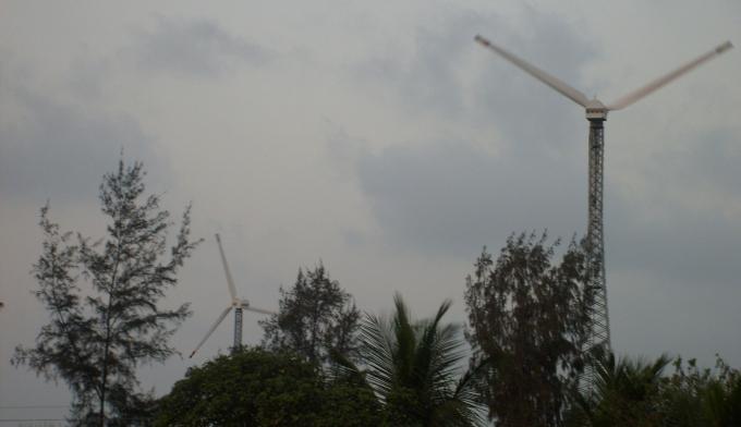 Wind turbine installed in the Sundarbans, West Bengal (Image by Joydeep Gupta)