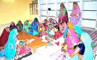 Centre for Social Research has been training rural women leaders (sarpanch) and potential leaders in the desert state of Rajasthan since 2012 to take a lead in water management and conservation. (Image by Centre for Social Research)
