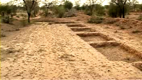 A series of interconnected water dykes called Chaukas have been dug in Lapodiya village that help in sustained flow of water for soil productivity and check water logging too.