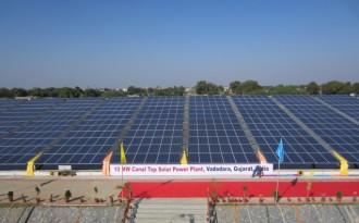 Solar plant atop irrigation canal impresses UN chief
