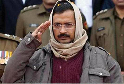 Arvind Kejriwal, convenor of the Aam Aadmi Party, which swept the Delhi assembly polls. Kejriwal wrapped himself up during most of the winter campaign, earning the nickname Mufflerman (Image courtesy IndiaTVnews)