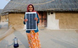 A woman solar engineer who helped electrify Legga village in Rajasthan (Image by Knut-Erik Helle)