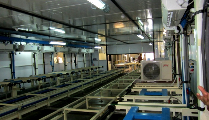 A Godrej manufacturing unit that produces propane-based environment-friendly air-conditioners (Image by hydrocarbons21)