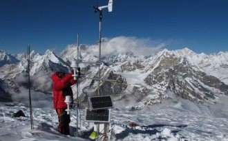 India's new glacier monitoring programme will involve high altitude mountaineering to collect detailed field data from over 260 glaciers (Credit: Patrick Wagnon)