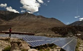 Solar panels in Ladakh, India (Image by Harikrishna Katragadda)