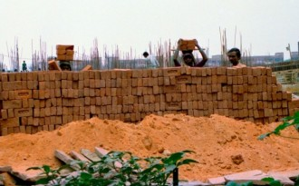 A construction site in India