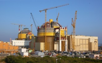 Two Pressurized Water Reactors (PWRs) under construction at the Kudankulam nuclear power plant, India (Image by Petr Pavlicek / IAEA)