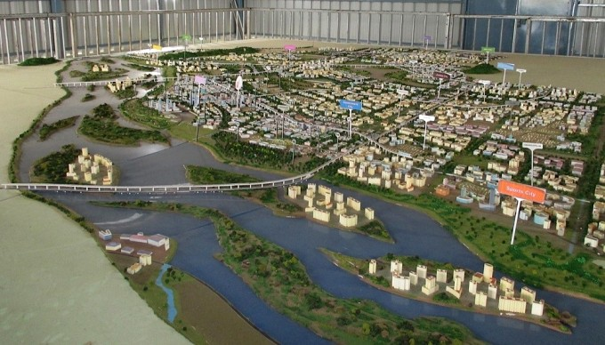 A scale model of Amaravati, on the banks of the Krishna river (Image by S. Gopikrishna Warrier)