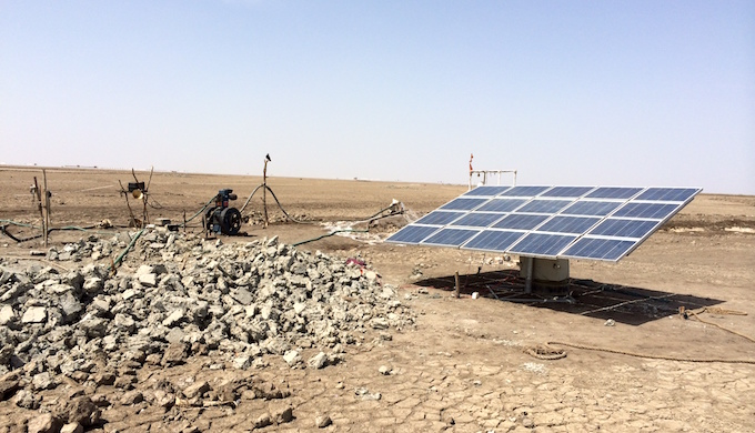 Solar power replaces diesel during the day. (Photo by SEWA)