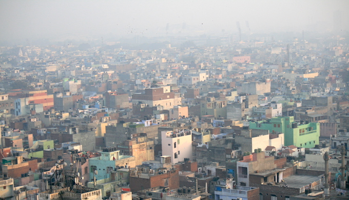 A noxious haze hangs over New Delhi. (Photo by Jean-Etienne Minh-Duy Poirrier(