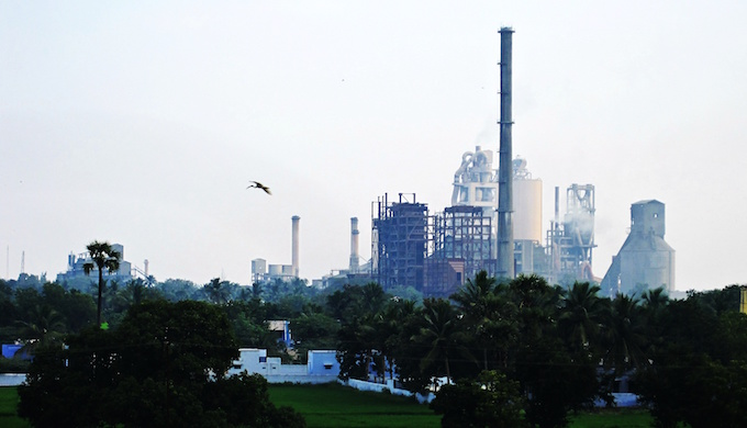 A cement factory in southern India (photo by Thangaraj Kumaravel)