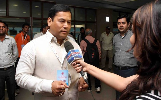 Sarbananda Sonowal, Assam's First BJP Chief Minister [image by Amarjyoti Borah]