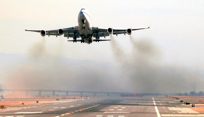 Moves are afoot to check aircraft pollution. (Photo by D. Sleeter)