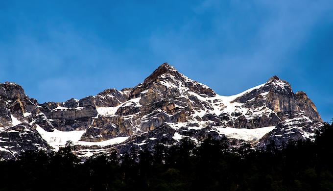 Angden Lama Peak seen from Lachen.