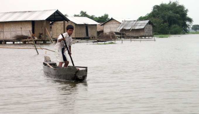 The aftermath of floods provides the perfect breeding ground for mosquitos. (Photo by Oxfam International)