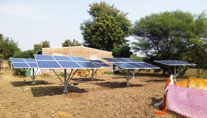 Farmers in Dhundi in Gujarat are using solar pumps to irrigate fields. (Photo by Sapna Gopal)