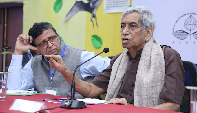 Anupam Mishra speaking at the India River Week 2016 on November 28. (Photo by WWF India)