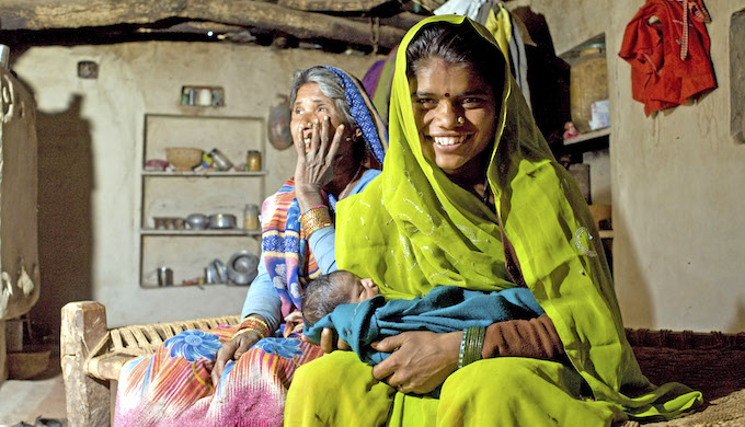 Institutional deliveries have helped reduce infant mortality in India. (Photo by Nick Cunard)