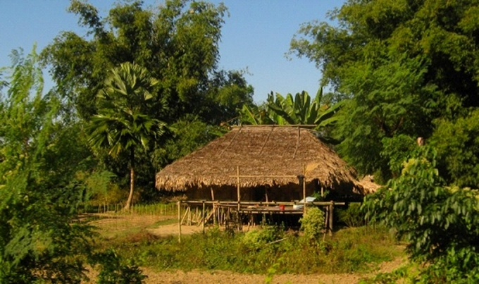 A house belonging to Adi tribe in Pasighat