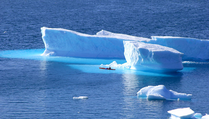 The ice in the Arctic is melting rapidly due to global warming, leading to a global rise in sea levels. (Photo by Pascale Soubrane)