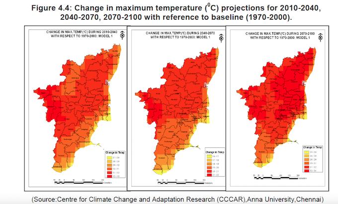 Pic 1 Change in maximum temperature