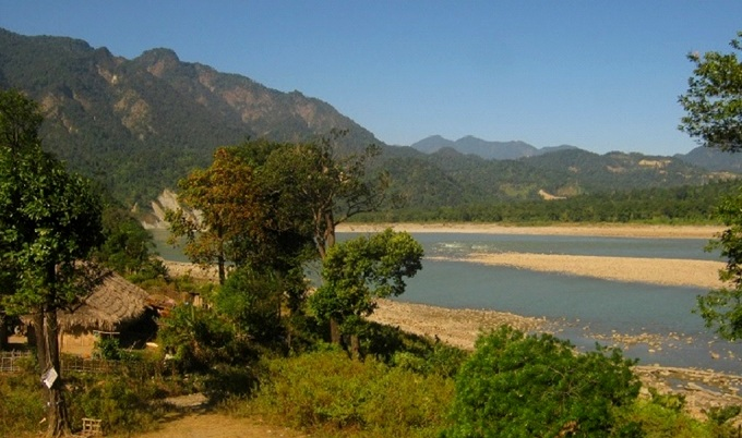 Siang river in Pasighat
