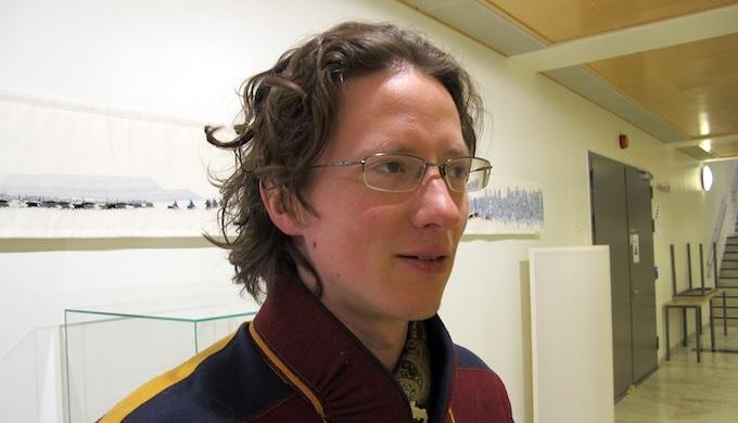 Aslak Holmberg is a member of the Finnish Sámi Parliament. (Photo by Omair Ahmad)