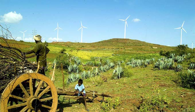 India's wind power industry expects high growth in the next few years. (Photo by Vestas)