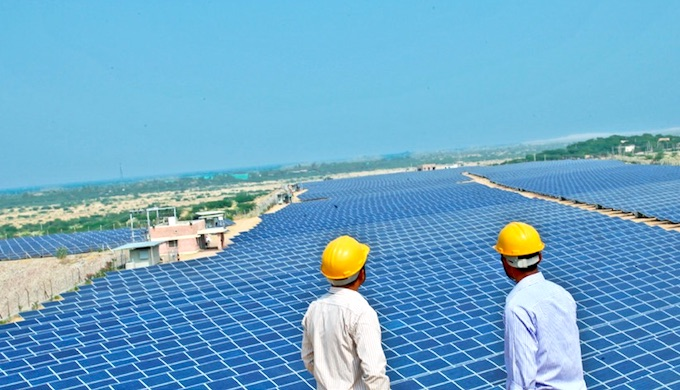 Solar parks are gaining currency in India. (Photo by Aditya Birla Group)