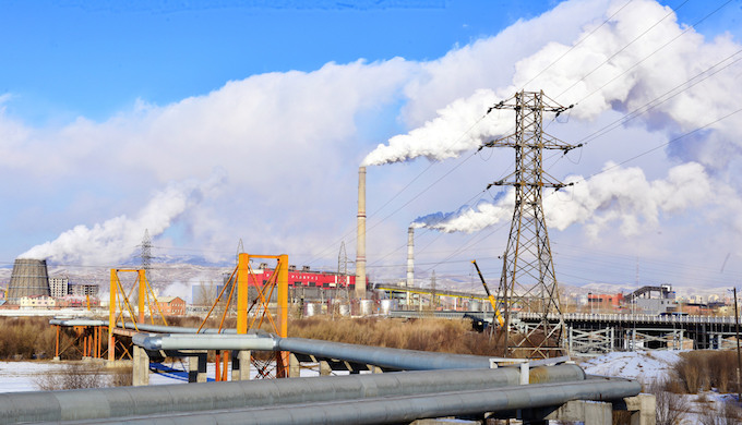 A coal-fired electric power plant in Mongolia. (Photo by Enkhbayar Batmunkh)