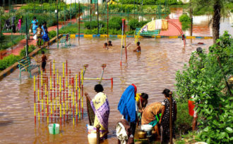 Extreme rainfall leaves cities floundering