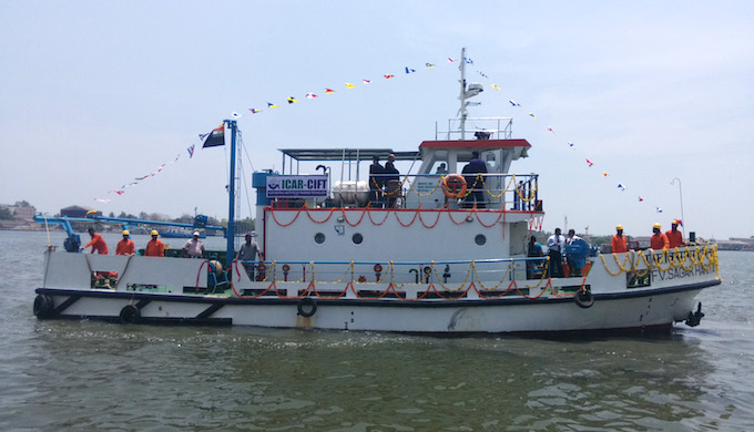 The Sagar Haritha designed by Central Institute of Fisheries Technology is an energy efficient fishing vessel (Photo by CIFT)