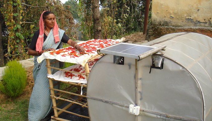 Bimla Devi of Jaghdhar village in Uttarakhand is a proud owner of a solar dryer (Photo by Juhi Chaudhary)