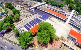 Sunlight starts powering railway stations