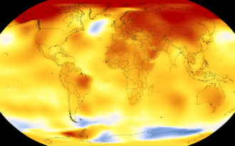 2017 was one of the three hottest years on record