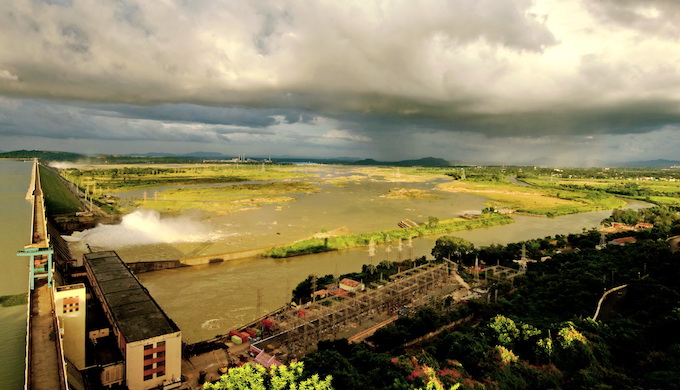 The construction of the Hirakud dam in the 1950s started the decline of the Mahanadi River basin, experts say. Photo credit: Ranjan K Panda