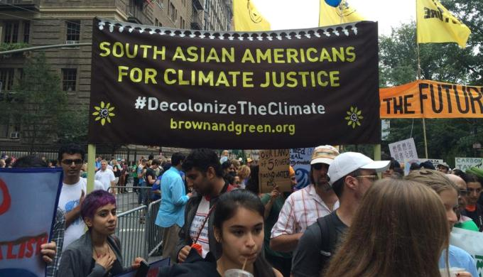 Over 400,000 people turned out for the People's Climate March in New York on Sunday, just days before the UN Climate Summit. (Image by Anirvan Chatterjee)