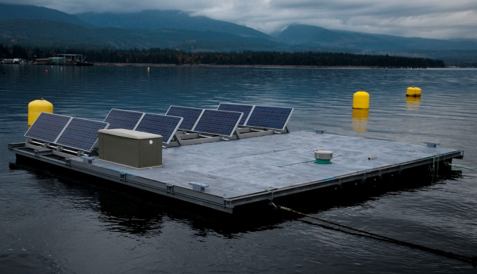 A floating solar grid ( Image by VIUDeepBay)