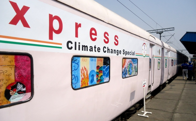 Science Express–Climate Action Special train (Image by Juhi Chaudhary)