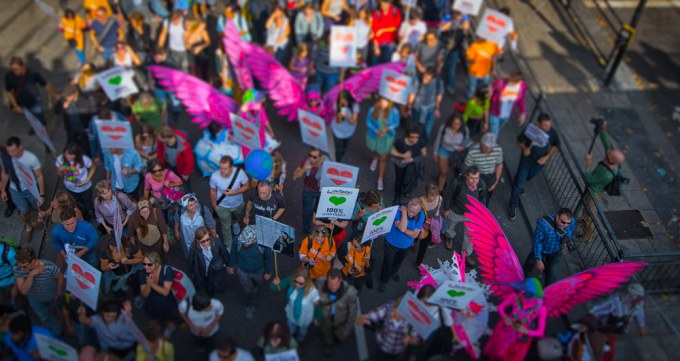 A file image of a 2014 protest against climate change (Image by Antonio Acuna)