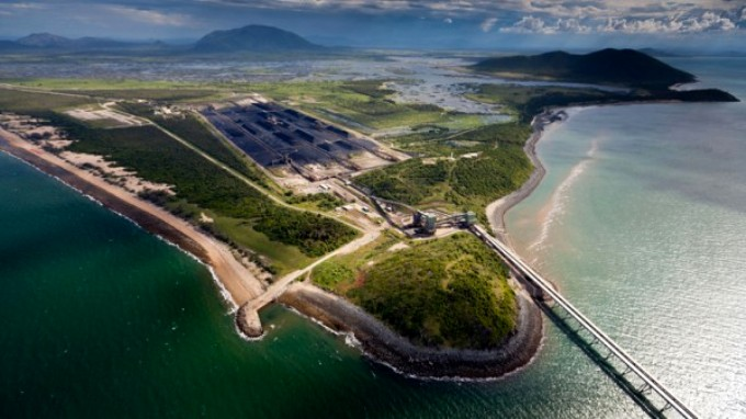 Adani's planned expansion of the Abbot Point coal terminal will require over one million tonnes of dredging, which will allegdly destroy the nearby coarals and destroy the habitat of dugongs and turtles. (Image by Tom Jefferson/Greenpeace)