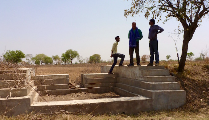 Small check dams are capable of recharging the land at a local level in Bundelkhand. (Image by Soumya Sarkar)