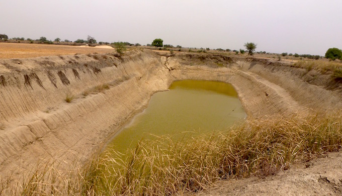 A newly dug pond holds out hope in parched Bundelkhand. (Image by Soumya Sarkar)