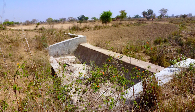 A micro watershed intervention by building tiny check dams such as this near Salaiya Pamar village in Datia district of Madhya Pradesh have yielded positive results.