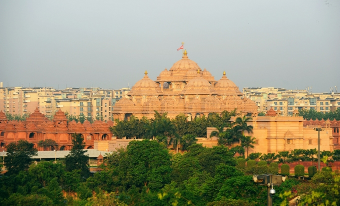 The Akshardham temple has been a Delhi landmark since it was built on the floodplain in 2005 despite strenuous objections by environmentalists
