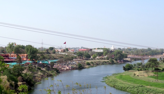 The Shipra enters Ujjain as a rejuvenated river.