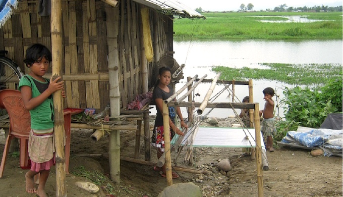 Children displaced by floods in Assam. (Photo by Mubina Akhtar)