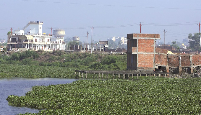 Gorakhpur is losing its water bodies due to rapid construction activity. (photo by GEAG)